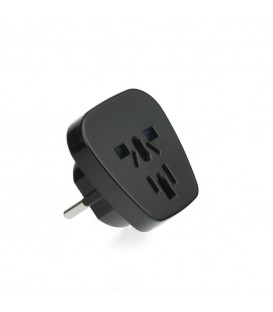 Adaptor AC220V PL/EU Plug pentru UK J39-9 Negru