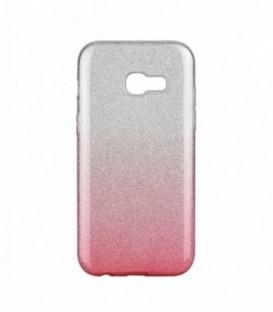 Husa Samsung Galaxy A3 2017 Forcell Shining Roz Transparenta