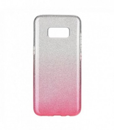 Husa Samsung Galaxy S8 Forcell Shining Roz Transparenta