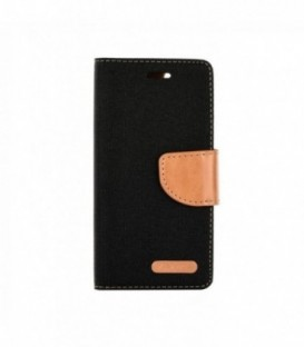 Husa Apple iPhone 4/4S Canvas Book Neagra