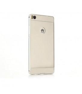 Bumper Aluminiu + Cover Spate HUAWEI P9 LITE (Mirror) Argintiu