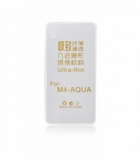 Husa Sony Xperia M4 Aqua Ultra Slim 0.3mm Transparenta