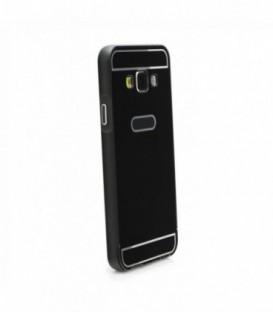 Husa Apple iPhone 5/5S/SE Bumper Aluminiu + Capac Spate Neagra