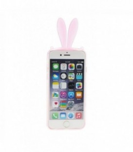Husa Apple iPhone 4/4S 3D Urechi Roz