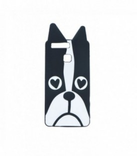Husa Huawei P9 3D Bulldog Neagra/Alba
