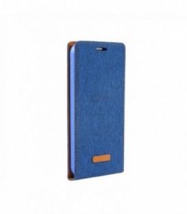 Husa Huawei P9 Flip Canvas Flexi Albastra