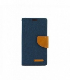 Husa Apple iPhone 4/4S Canvas Book Bleumarina