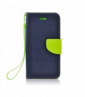 Husa Samsung Galaxy J7 2016 Fancy Book Bluemarin-Lime
