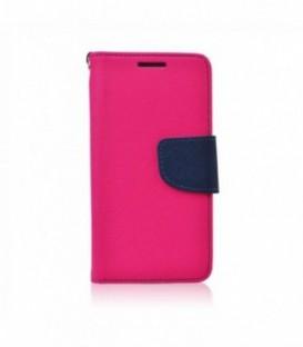 Husa Samsung Galaxy J3 2016 Fancy Book Roz-Bleumarina