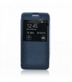 Husa Sony Xperia M4 Aqua S-View Flexi Bleumarina