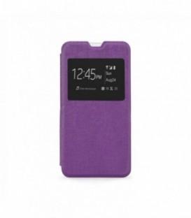 Husa Microsoft Lumia 640 S-View Flexi Violeta