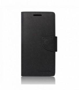 Husa Sony Xperia M4 Aqua Mercury Fancy Diary Neagra