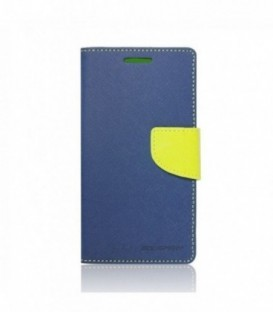 Husa Apple iPhone 5/5S/SE Mercury Fancy Diary Bluemarin-Lime