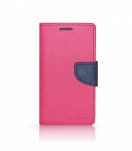Husa Apple iPhone 5/5S/SE Mercury Fancy Diary Roz-Bleumarina