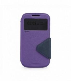 Husa Sony Xperia M4 Aqua Roar Fancy Diary Mov-Bleumarina