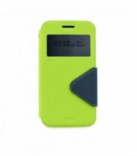 Husa Sony Xperia M4 Aqua Roar Fancy Diary Verde-Bleumarina