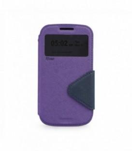Husa Microsoft Lumia 650 Roar Fancy Diary Mov-Bleumarina